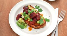 Avocado And Chorizo Toast recipe