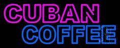 Double Stroke Cuban Coffee Neon Sign
