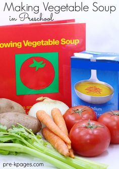 Classroom Recipes: Vegetable Soup inspired by Lois Ehlert's Growing Vegetable Soup | Preschool | Cooking with Kids | Recipes | Book Activities |