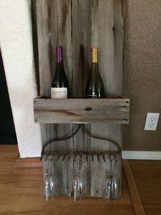 barnwood wine holder   Pin it Like Image