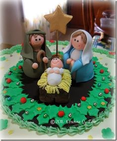 Tartas y tortas de Navidad con el nacimiento de Jesús (shared via SlingPic)