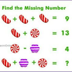 Fun WIth Maths: Find the Missing Number in The Picture Math Class, Fun Math, Math Games, Math Activities, Math Math, Logic Puzzles, Logic Math, Math Challenge, Math Problem Solving