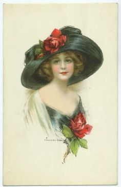 Hats, Lady, Rose