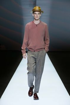 A look at the Emporio Armani Men's Spring Summer 2017 fashion show