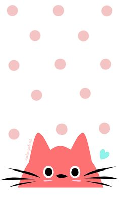 Descargable / Freebie: Fondo de pantalla móvil de gato (rosa)