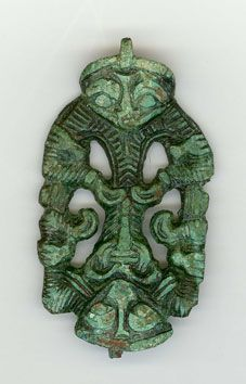 This fascinating brooch was found a couple of weeks ago in Denmark in connection to archaeological excavations, at a place called Gødvad. The excavation is carried out close to the church at Gødvad, on a small hill north of the Guden river, an important water way up to our days. At the site, there is a Viking Age farm, with huge amount of handicraft debris, like smithing and weaving.