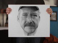+ Ilustração :     Retrato utilizando a técnica de pontilhismo, feito por Miguel Endara.  Conheça a história e os detalhes.
