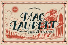 For limited time only Mac Laurent 20%OFF Well crafted typeface inspired by vintage typography. The typeface Ideal for : Logo, quotes, invitations, signage, poster, greeting cards, packaging, headers, printed quotes, cover album, etc.
