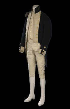 This uniform belonging to Lieutenant William Hicks is the only known surviving example of a Royal Navy lieutenant's uniform from the Napoleonic Era regulation pattern). Royal Navy Uniform, Royal Navy Officer, Royal Marines, Men In Uniform, Navy Uniforms, Rear Admiral, Maritime Museum, Antique Clothing, Federal