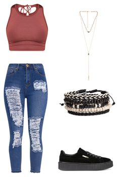 """Untitled #425"" by angela229 ❤ liked on Polyvore featuring Puma and 8 Other Reasons"