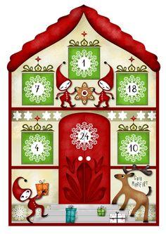 Advent Calendar lantern:one of three parts