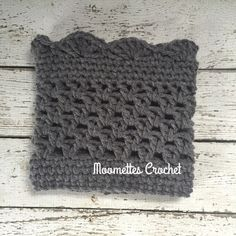 Handmade Accessories - Handmade Gray Boot Cuffs Leg Warmers Crochet
