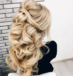 Bridal Hairstyles Inspiration : The twists and volume with the swoop at the fromt