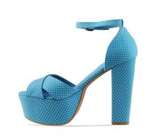 Blue dotted heels