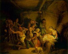Die Anbetung der Hirten  Dietrich, Christian Wilhelm Ernst (Maler)  1750