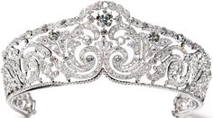 Tiara Mania: Queen Elisabeth of Belgium's Diamond Scroll Tiara