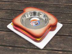 TOAST, MACRON, BURGER, ... - elevated pet bowl stand - raised pet feeder - dog bowl holder - raised cat dish - pet feeding station by Cc2kdesign on Etsy