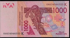 Senegal banknote with shark