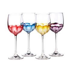 RUMBA WINE GLASSES - SET OF 4   Italian Glass Stemware   UncommonGoods