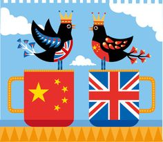 Britain and China tea drinking friends