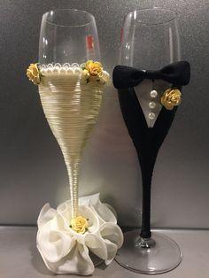 #CiZan#Hochzeit#Sektglas#selfmade