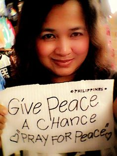 Give peace a chance. #prayforpeace