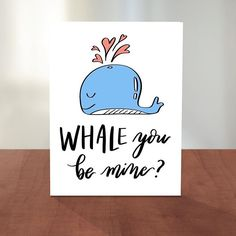 For the person you WHALEY love.  #whale Link to #etsyshop to cards in bio! #illustrated #Handlettered #greetingcard #etsy #pun #letteringdaily #handtype #stationerylove #hiphop #stationery #etsyseller #drizzy #etsyfinds #creativelife #etsy #handlettering #lettering #letteringdesign #handtype #typegang #typography #moderncalligraphy #thedailytype #type #typography #dailydoseofpaper #love #valentines #valentine