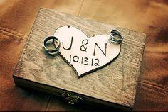 Anneau porteur boîte - décor minable mariage rustique Chic - anneau porteur oreiller Alternative - boîte à bagues personnalisées sur Etsy, 15,03€