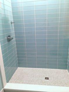 Pale Blue Glass Subway Tile in Vapor | Modwalls Lush 4x12 Tile ...