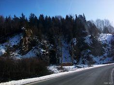 Wiesenttal im Winter, Fränkische Schweiz, Bayern, Deutschland