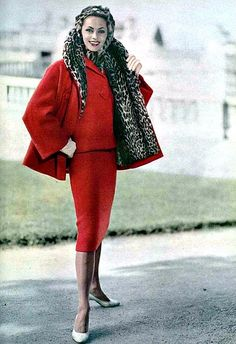 Ghislaine Arsac in Jean Patou, photo by Guy Arsac, 1957