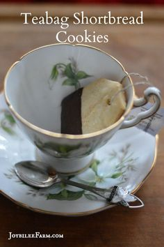 These tea bag shortbread cookies are just a little more finicky to make than regular shortbread. But I promise you the effect is worth the effort. If you are making these for a gift, find a vintage tea tin to present them, or create a tea bag box. Use your imagination to make this awesome. It's a priceless gift for less than the cost of a cuppa at Starbucks. These would also be perfect for Grandma's tea…