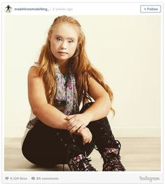 Madeline Stuart, an aspiring fashion model who has Down's Syndrom-  models for 2 companies recently: The first is with athletic wear company Manifesta and the second with Guatemalan handbag brand everMaya. Rock on, Madeline!