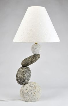 Hanging Rock Lamp by Funky Rock Designs