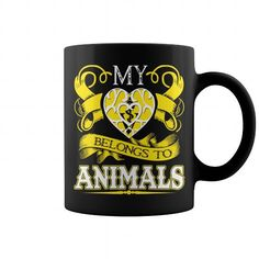 I Love My Heart Belong To Animals T-Shirts