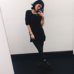 Anonymous said: please could you post some black kylie outfits from August/September please XX Answer: Kylie Jenner Daily, Kylie Jenner Style, Kendall And Kylie Jenner, Jenner Girls, Black Wardrobe, Kardashian Jenner, Edgy Outfits, Normcore, Clothes For Women
