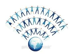Team of business people forming WIFI symbol wave Creative Illustration, Digital Media, Layout Design, Wifi, Waves, Internet, Symbols, Business, People