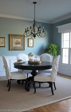 This is Sherwin Williams Interesting Aqua. Very similar to our living room color (which was a custom make by my hubby). So many people love the color, but this is as close as you can get :)