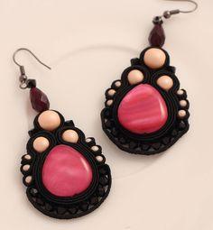 Sherry flower soutache earrings