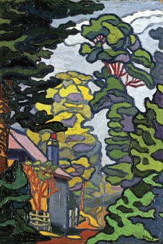 Charles Ginner, 'Victoria Embankment Gardens' 1912 (from The Camden Town Group in Context Tate)