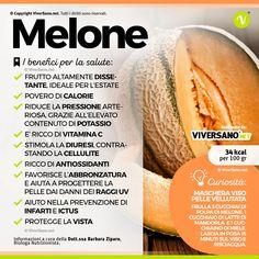 #Melone, drenante e #rinfrescante: ecco proprietà, benefici e controindicazioni. #salute #alimentazionesana #alimentazionecorretta #viversano