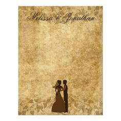 SOLD Brown Vintage paper Parchment Bride Groom Once upon a time Wedding Letterhead by #PLdesign #OnceUponaTime #VintageWedding