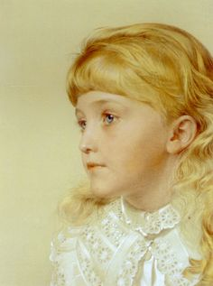 Portrait of May Gillilan by Anthony Frederick Sandys