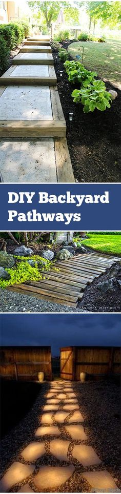 DIY Backyard Pathways