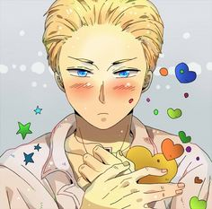 What are you blushing about Ludwig~?