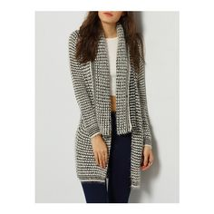 SheIn(sheinside) Grey Long Sleeve Lapel Knit Cardigan (€29) ❤ liked on Polyvore featuring tops, cardigans, grey, long sleeve knit cardigan, grey knit cardigan, gray cardigan, long gray cardigan and gray knit cardigan