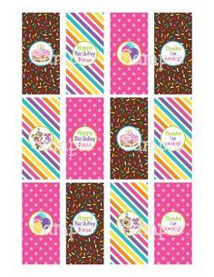 Printable Birthday Girl Teddy Bear Mini Hersheys Candy Bar Wrappers | aMerAZNStyLe - Digital Art  on ArtFire