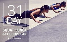 The 31-Day Squat, Lunge and Pushup Plan