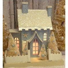 KD Vintage Christmas Beach Cottage III