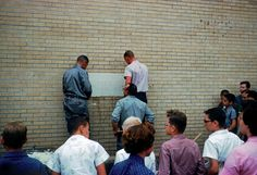 Installing the cornerstone on the Fellowship Hall